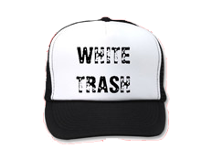 Cafepress White Trash Hat Trucker Clic Baseball Unique Cap